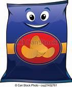 Cartoon Potato Chips Packet