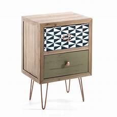 comodino legno comodino vintage 2 cassetti in legno massello