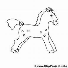 bild zum ausmalen pferd