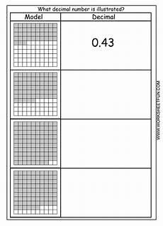 decimal square worksheets 7298 comparing decimals with models worksheet exles and forms