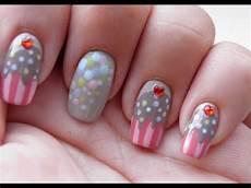 cupcake nail art tutorial youtube