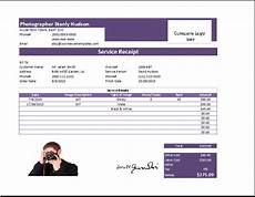 ms excel photography receipt template receipt templates