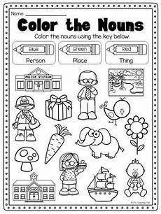 nouns printable worksheet kindergarten first second grade
