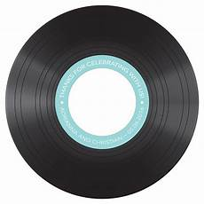 classic vinyl diecut cd label the knot shop