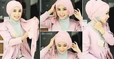 Kreasi Jilbab Turban Segi Empat Untuk Pesta Ala Dian Pelangi