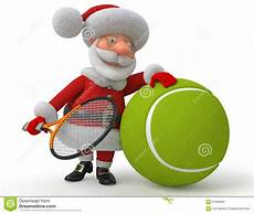santa claus plays tennis stock illustration illustration