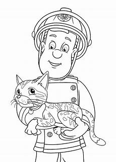 fireman sam coloring pages to and print for free