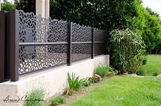 Palissade En Alu Brand Conception Panneaux Aluminium D 233 Coratifs Sur Muret