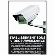 panneau de signalisation etablissement sous surveillance