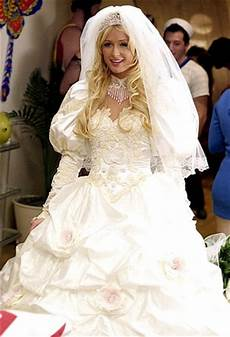 paris hilton celebrity wedding dresses tv movies us weekly