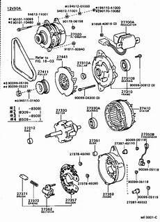 toyota 1c alternator
