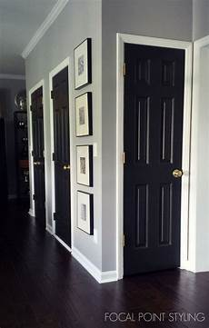 how to paint interior doors black update brass hardware white trim black doors black