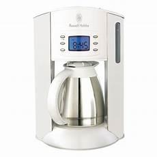 kaffeemaschine weiß mit thermoskanne hobbs white style kaffeemaschine ebay