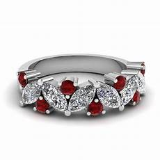 save big ruby wedding bands for fascinating diamonds