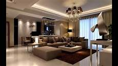 Modernes Wohnzimmer Braun - simple way to decorate small living room with brown color