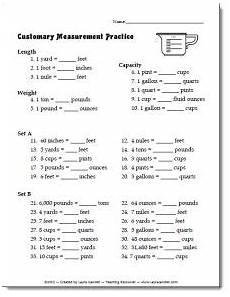 math worksheets for grade 5 measurement 1835 free customary measurement practice worksheet or quiz math measurement homeschool math