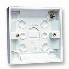 32mm single 1 surface slim pattress back box wall socket light switch 5056098724538