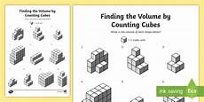 finding the volume by counting cubes worksheet