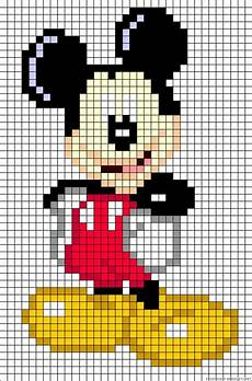 mickey pixel also could use for cross stitch mickey mouse perler
