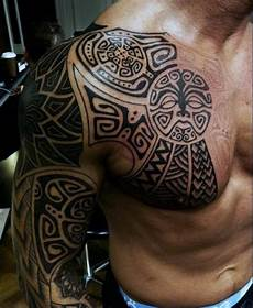 Oberarm Tribal - 90 tribal sleeve tattoos for manly arm design ideas