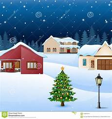 Malvorlage Haus Mit Schnee Nachtwinter Dorflandschaft Mit Schnee Bedeckte Haus Und