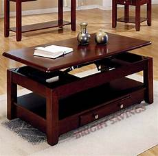 new lift top storage cocktail coffee table cherry finish furniture with casters ebay