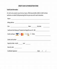 free 9 credit card authorization form sles in word pdf