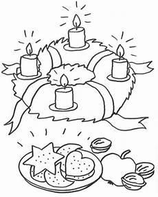Malvorlagen Advent Und Weihnachten Kostenlose Malvorlage Advent Adventskranz Zum Ausmalen