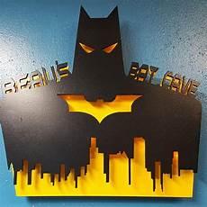 custom batman skyline personalized lighted sign with name superhero dc comic retro men kids
