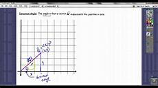 direction angle of a vector and converting to component form youtube