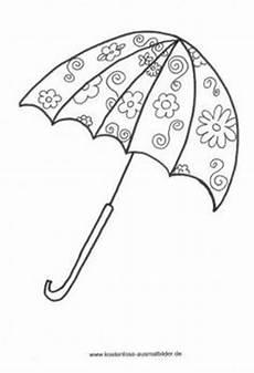 Gratis Malvorlagen Regenschirm Craft Regenschirm Bild Fensterbilder Zum Ausmalen