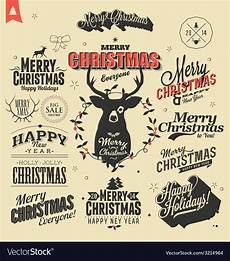 merry christmas sign and symbols decoration vector image