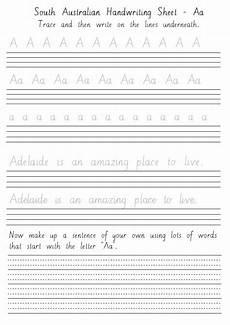 free handwriting worksheets australia 21305 south australian handwriting sheets aa to zz primaryedutech