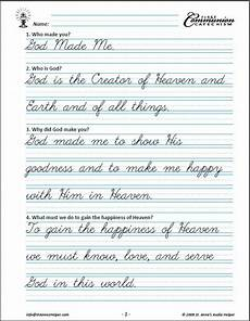 catholic cursive handwriting worksheets free 21705 60 catholic communion worksheets baltimore catechism no 1