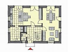 fertighaus grundriss erdgeschoss treppe mit galerie haus