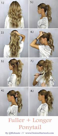 create a fuller and longer ponytail in these easy steps