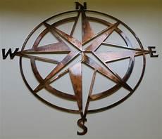 nautical compass rose wall art decor 40 quot copper bronze plated ebay