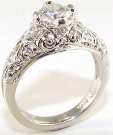 amazing old style wedding rings with vintage style diamond
