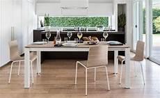 calligaris table repas extensible baron 130x85 en bois