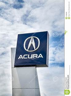 acura dealership sign editorial image image of isolated 41080280