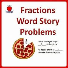 fraction stories worksheets 4109 fractions word problems grade 3 5 by teachkidlearn tpt