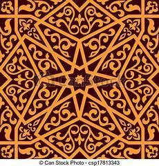 Arabische Muster Malvorlagen Bilder Eps Vektor Muster Arabisch Zentral Seamless