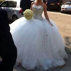 tulle and sparkly wedding dress in 2019 wedding gowns