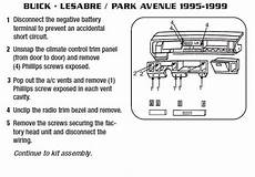 1998 buick park avenueinstallation instructions