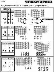 subtraction with regrouping worksheets with base ten blocks 10608 three digit addition with regrouping with base ten blocks by s