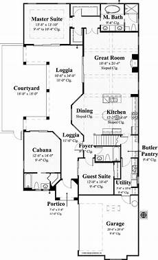 spanish revival house plans with courtyards mediterranean style house plan 3 beds 4 baths 2676 sq ft