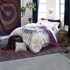 home expressions medallion complete bedding with sheets color purple jcpenney