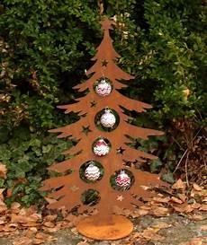 weihnachtsbaum metall edelrost rost 60 cm deko tanne