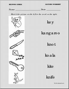 free phonics worksheets letter k 24356 phonics letter k matching picture to word printable worksheet letter theme day k prek