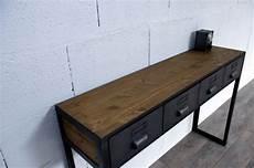 console style industriel console style industriel avec tiroirs sur mesure